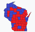 Wisconsin gubernatorial election, 1960 County Results.png