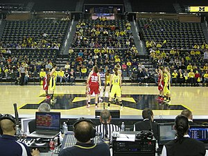 Michigan Wolverines women's basketball - Michigan and Wisconsin preparing for the opening tip off for their January 13, 2013 game.