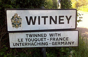 Witney - Road Sign for Witney