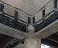 Wooden burned beams Hall of Augustals Herculaneum.jpg