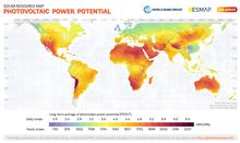 Fotovoltaik güç potansiyeli haritası