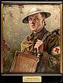 World War I; an R.A.M.C. bearer supplying water to the Wellcome L0034643.jpg