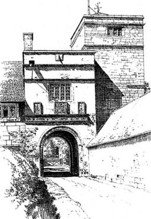 Wormleighton Manor - Wormleighton Manor gatehouse entrance in 1613 soon after completion.