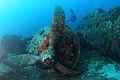 Wreck of a B-17 bomber (Calvi, Corsica).JPG