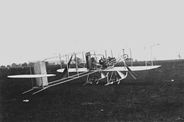Wright -Baby Grand- three quarter view on ground, Simms Station near Dayton, Ohio, 1910 (10493 A.S.).jpg