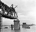 Wuhan Yangtze River Bridge in construction.jpg