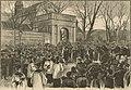 Wyprowadzenie zwłok Alojzego Żółkowskiego z kościoła św. Antoniego - rys. Ksawery Pillati, 1889.jpg