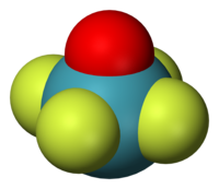 Space-filling model of xenon oxytetrafluoride