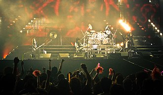 J-pop - Concert of pioneer of visual kei, X Japan at Hong Kong in 2009 after their 2007 reunion