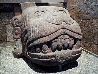 Xolotl - Xolotl statue displayed at the Museo Nacional de Antropología in Mexico City.