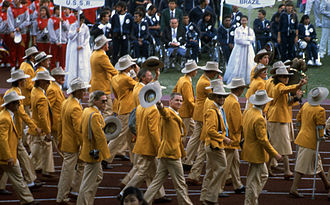 Australia at the 1988 Summer Paralympics - Australian team at the Opening Ceremony