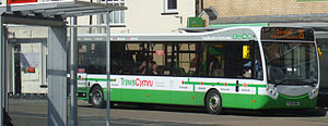 TrawsCymru - Richards Brothers Optare MetroCity on a T5 service in Aberystwyth in April 2015