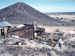 Abandoned mine near Quartzsite