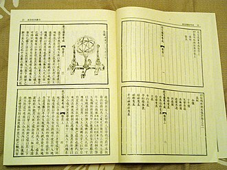 History of science and technology in China - Instructions for making astronomical instruments from the time of the Qing Dynasty.