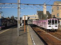 Yokaichi station platform.JPG