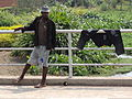 Young Man on Bridge with Drying Trousers - Musanze Ruhengeri - Northern Rwanda.jpg