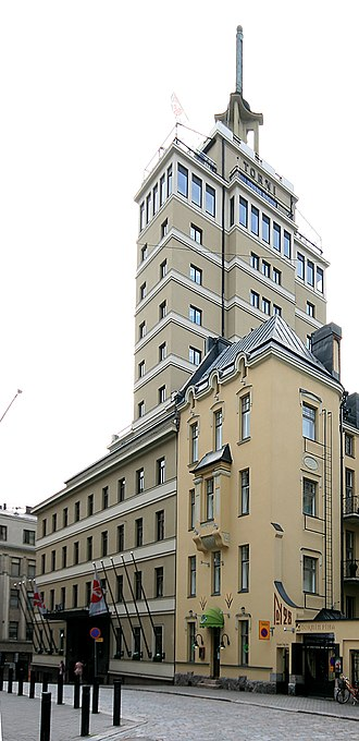 Kamppi - The legendary Hotel Torni (Hotel Tower), formerly the tallest building in Finland.