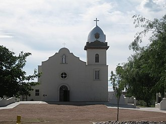 El Paso, Texas - Ysleta Mission, constructed in 1680 by the Spanish