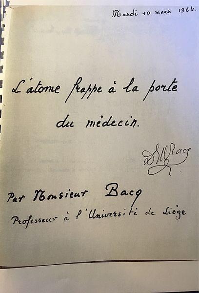 Zénon Bacq, lors d'une réunion au Château Dresse à Trooz (ou Château Bleu maintenant) mardi 10mars 1964