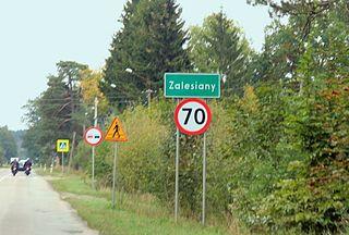 Zalesiany, Podlaskie Voivodeship Village in Podlaskie Voivodeship, Poland