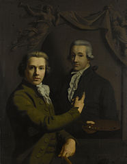 Self Portrait Pointing to the Portrait of his deceased Colleague Dirk Jacobs Ploegsma