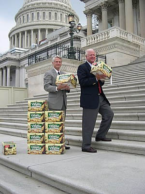 Zell Miller - Miller and Saxby Chambliss in 2004