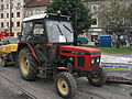 Zetor 7211 during reconstruction of Długa street in Kraków (1).jpg