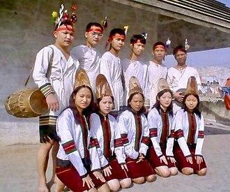 Zou people - Zou cultural troupe in full traditional attire