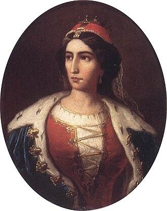 Ilona Zrínyi - Ilona Zrínyi, as painted by Károly Jakobey