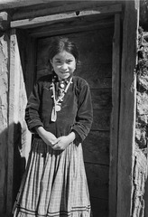 """Navajo Girl, Canyon de Chelle, Arizona."" (Canyon de Chelly National Monument) (vertical orientation), 1933 - 1942 - NARA - 519948.tif"