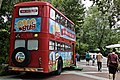 """""""Old Lisbon transportation bus"""" (Carris Company) transformed in a marketing tool called """"Ovo bus"""" """"Come to get acquainted with happy eggs"""" (28564825677).jpg"""
