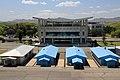 """""""Ostrá"""" hranice s jihokorejským návštěvnickým centrem, Panmunjon - panoramio.jpg"""