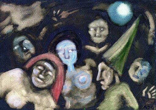 """Sabbat""- watercolour by Tony Grist"