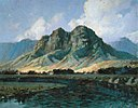 'Maunawili Peaks (Olomana) from Kailua' by D. Howard Hitchcock.jpg