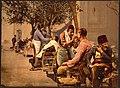 (Barbers near Seraskierrat (i.e., Seraskerat) Constantinople, Turkey) LOC 4210446553.jpg