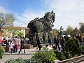 """Çanakkale, Turkey. Wooden horse (from the film """"Troy"""") on waterfront - panoramio.jpg"""