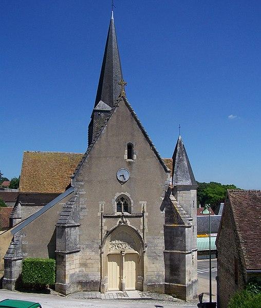 Église de la commune d'Alligny-Cosne (Nièvre, Bourgogne, France)