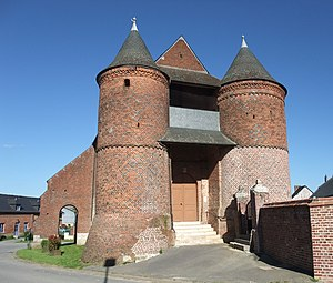 Archon, Aisne - The Archon fortified church and its two towers