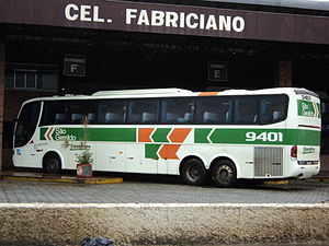 Scania 4-series (bus) - Scania K124IB bus, manufactured in 2000, with Marcopolo Paradiso body in the colours of Brazilian bus company São Geraldo, in the state of Minas Gerais, Brazil