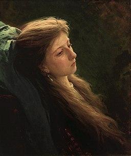 Девушка с распущенной косой (Крамской)