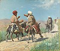 Мулла Рахим и мулла Керим по дороге на базар ссорятся.jpg
