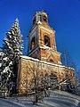 Церковь Крестовоздвиженская, Кленовица, Орловский район, Кировская область (вид на колокольню).jpg