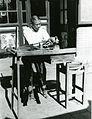 彎子-Photograph of Jade Carvers at Work- The Curved Wheel, Wanzi MET 1981 296 29 226350.jpg
