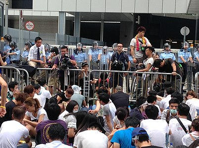 Fotostrecke: Proteste in Hong Kong am 27. und 28. September 2014