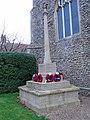 -2019-11-25 War memorial, All Saints parish church, Weybourne.JPG