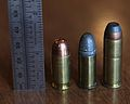.44 S&W American with ruler, .45 ACP, and .44 Magnum.JPG
