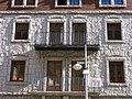 033 Antiga Clínica Vilanova, façana pl. Príncep Benlloch (Andorra la Vella).JPG