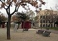 036 Parc Municipal d'Olesa de Montserrat, al fons l'Ajuntament.jpg