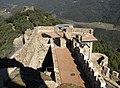 044 Castell de Montsoriu, vista des de la torre mestra, al fons la torre de les Bruixes.jpg