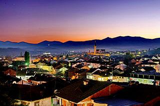 Gjakova City and municipality in District of Gjakova, Kosovo